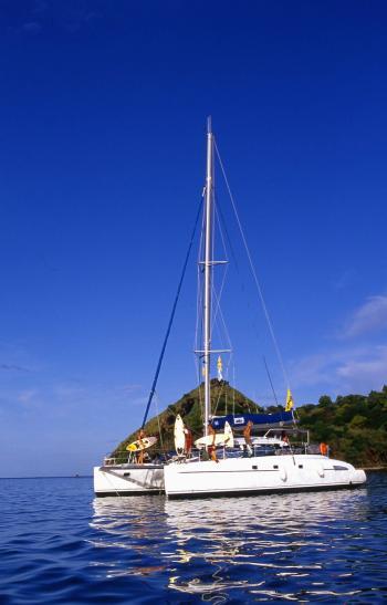 Bahia 46 vor Anker