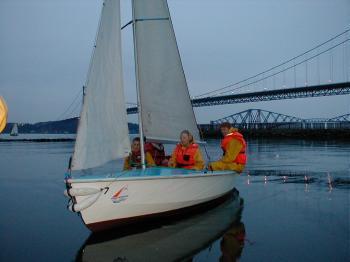 Sailing at Port Edgar