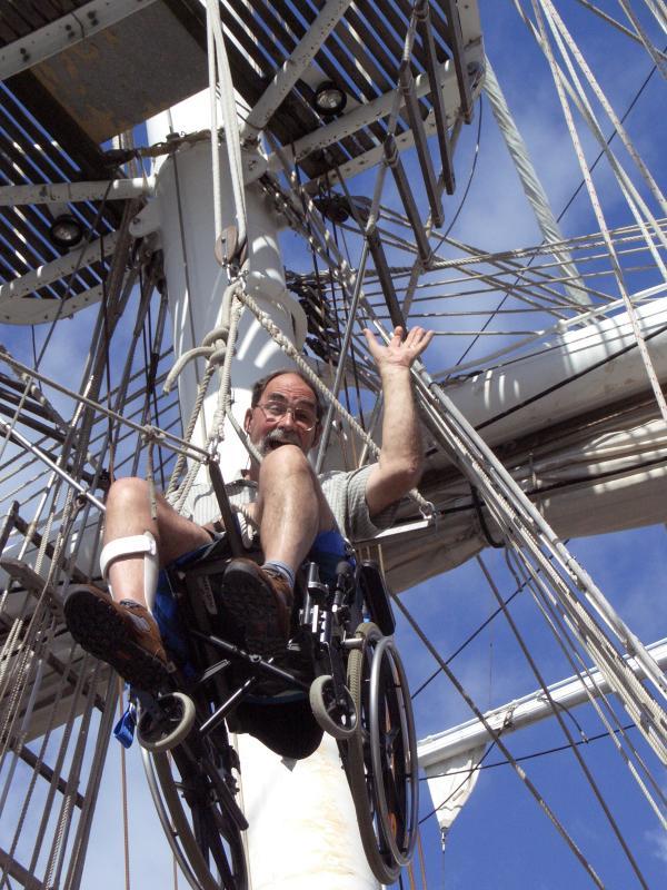 Mike going aloft