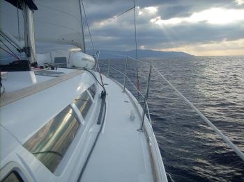 Sailing to Portorosa, Sicily