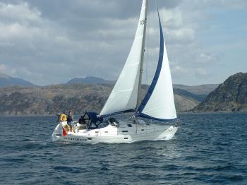 Sleat Queen sailing into Loch Moidart