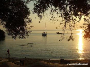 Sunset swim - Pagasitikos Gulf