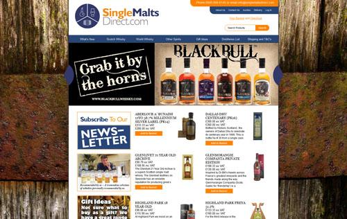 Single Malts Direct Homepage