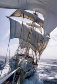 Lord Nelson from bowsprit