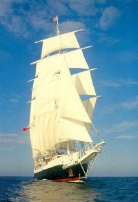 Lord Nelson under full sail