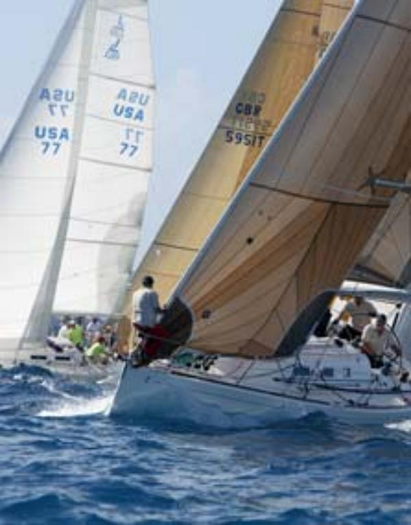 Elandra racing at the Heineken Regatta St Maarten