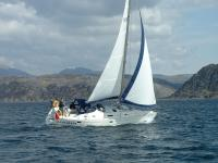 Sleat Queen sailing into Loch Moidart