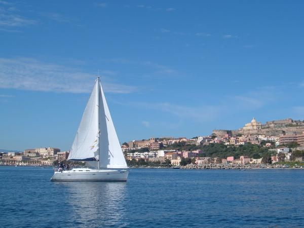 Sailing near Milazzo, Sicily