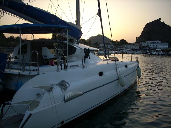 Catamaran Athena 38 in the Aeolian Islands