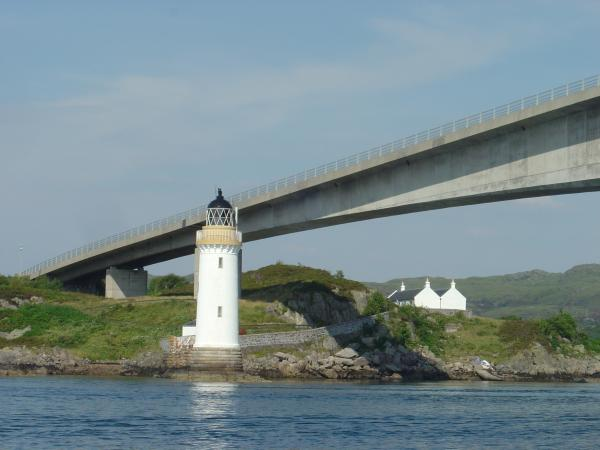 Passing Beneath Skye Bridge