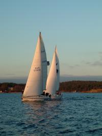 Winter sailing in Stockholm