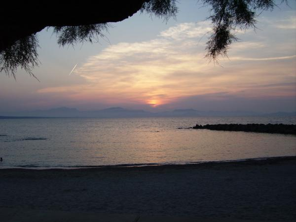 sunset dinner across Alcudia bay