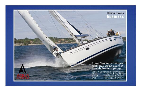 Good sailing in Stockholm
