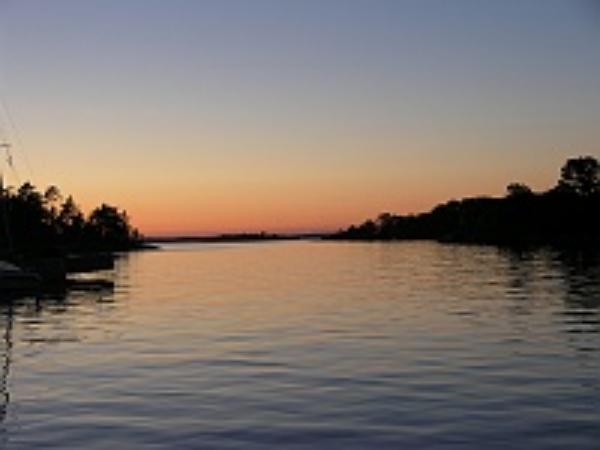 Sun sets in Sandhamn