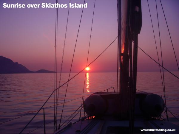 Sunrise over Skiathos Island