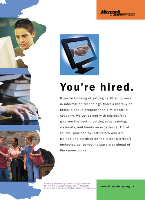 Microsoft Hired Poster