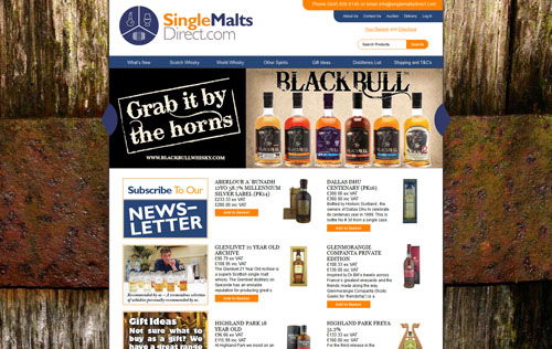 Single Malts Direct Homepage