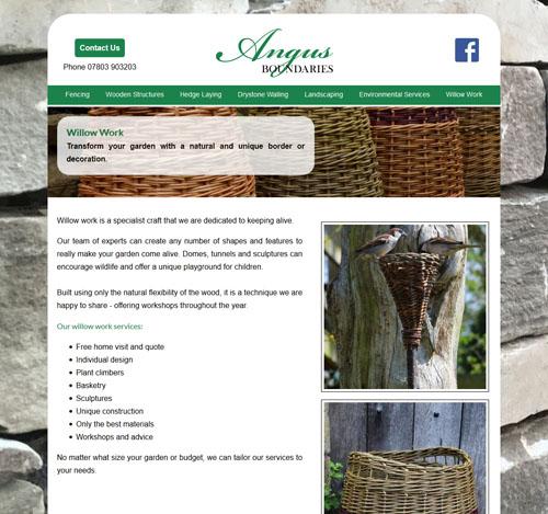 Angus Boundaries website screenshot